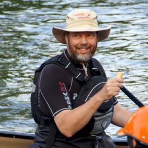 Michael in a canoe!